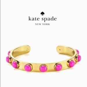 kate spade Jewelry - 🌸 Kate Spade Tag Along Pink Dot Cuff Bracelet 🌸